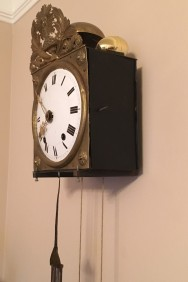 Egg hidden on clock