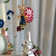 Egg tree ornaments from Germany