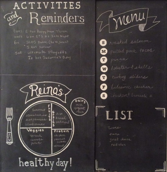 Family Life Chalkboard
