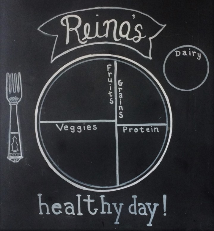 Healthy Day Chalkboard