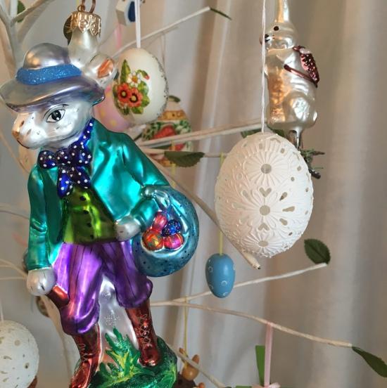 Radko & other egg tree ornaments