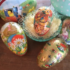 Vintage & new paper mache eggs